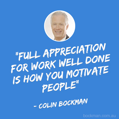 Colin Bockman motivation management training