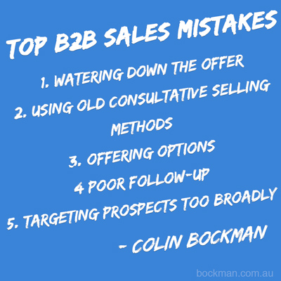 Top b2b2 sales mistakes